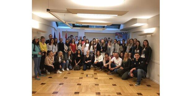 Schülerbotschafter erleben Europa