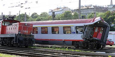 Verschubunfall Wien Westbahnhof