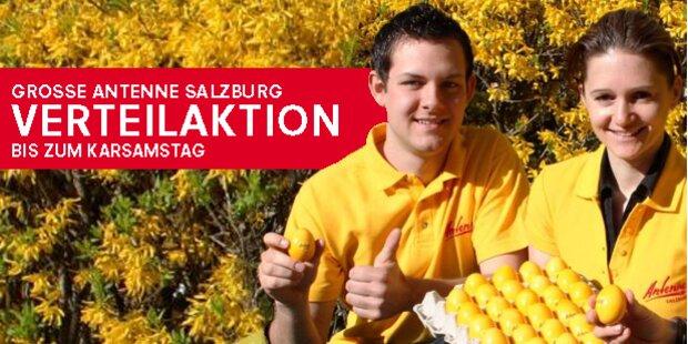 6.000 gelbe Ostereier von Antenne Salzburg
