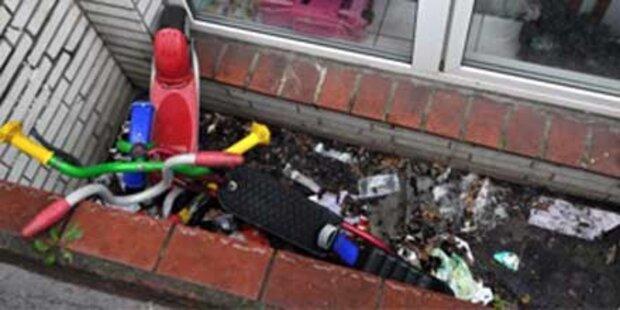 Unterernährte 3-Jährige lebt im Müll