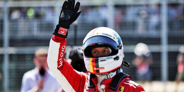Vettel holte Pole Position für Ferrari