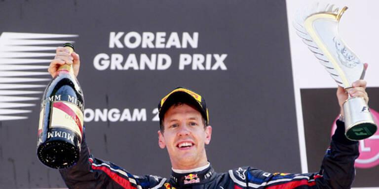Sebastian Vettel gewann in Südkorea