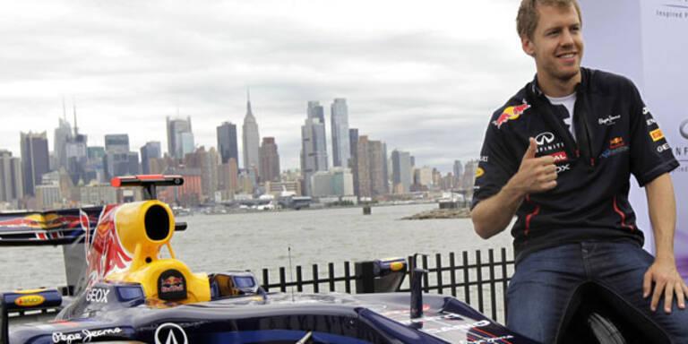 Vettel testet als Erster Strecke in New York