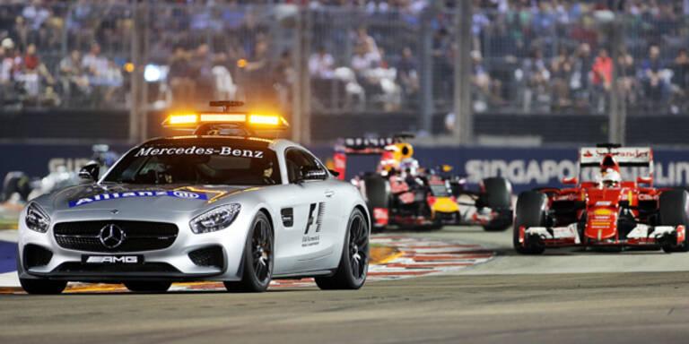 Vettel triumphiert bei Mercedes-Pleite