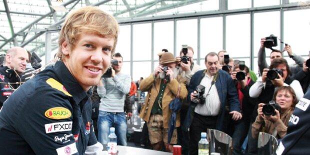Sebastian Vettel in Bullen-Heimat