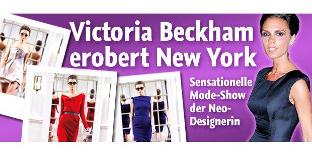 Tolle Kleiderschau von Victoria Beckham