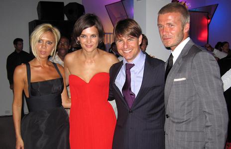 Victoria David Beckham Katie Holmes Tom Cruise