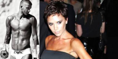 Victoria und David Beckham: Armani-Models
