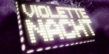 Violette Nacht Button