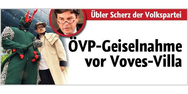 ÖVP-Geiselnahme vor Voves-Villa