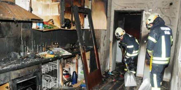 Feuerwehr rettet Kinder und Python