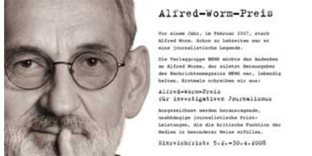 """News schreibt """"Alfred-Worm-Preis"""" aus"""