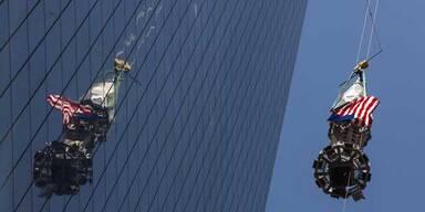 Neues World Trade Center hat jetzt seine Spitze