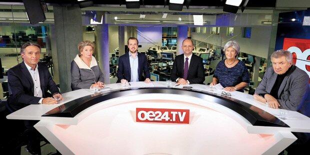Die große oe24.TV-Wahldiskussion