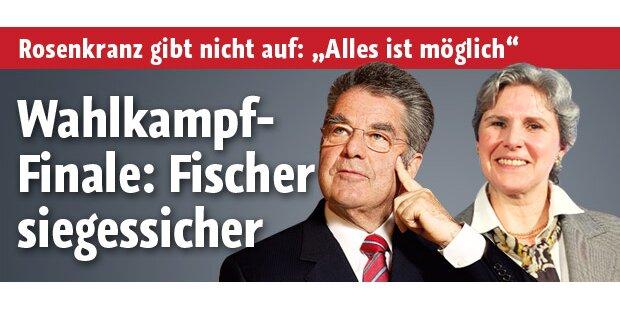 Wahlkampf-Finale: Fischer siegessicher