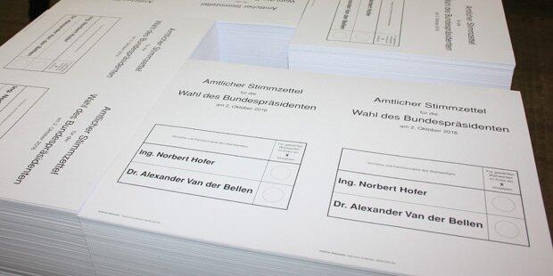 Schadhafte Wahlkarten: Droht neue Anfechtung?