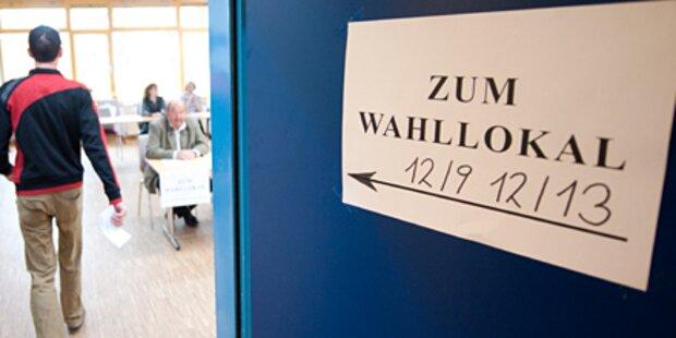 Geringe Wahlbeteiligung am Vormittag