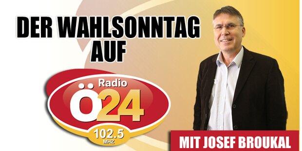 Der Wahlsonntag auf Radio Ö24