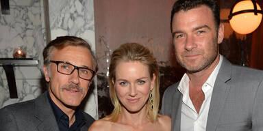 Christoph Waltz, Naomi Watts und ihr Mann Liev Schreiber