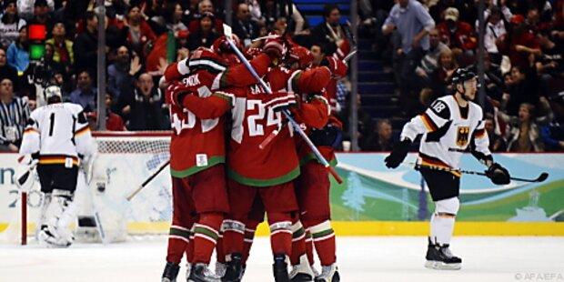 Dritte Niederlage für deutsches Eishockey-Team