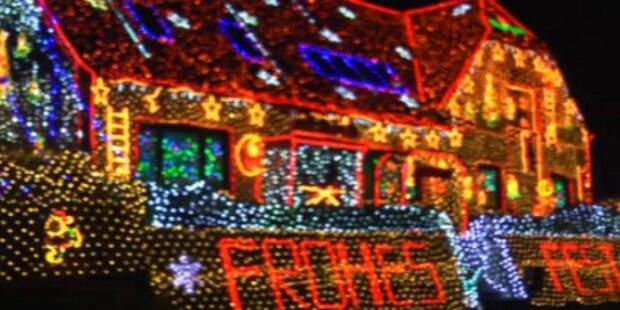 Weihnachtshaus: Hier funkeln 430.000 Lampen