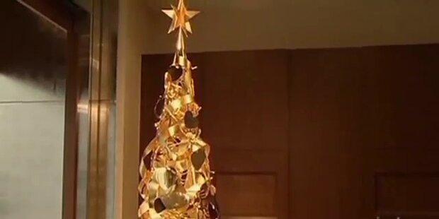 Weihnachtsbaum aus purem Gold
