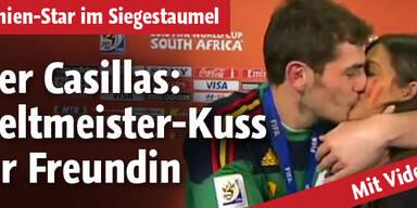Iker Casillas: Live-Kuss für Freundin
