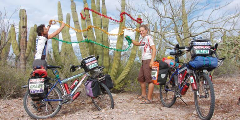 Grazer Weltumradler feiern Weihnachten in Mexiko