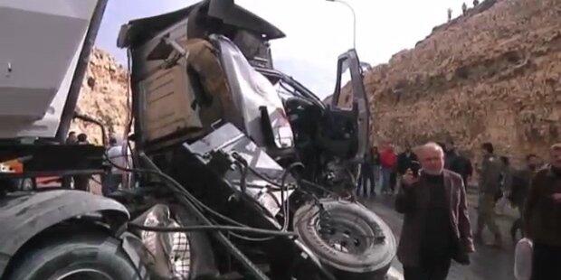 Tragisches Busunglück in Westjordanland