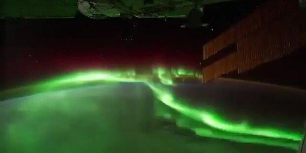 Nordlichter: Tolle Bilder aus dem All