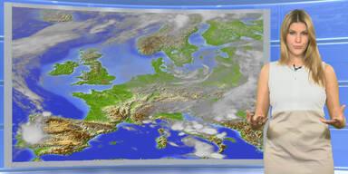 Das Wetter heute: Verbreitet Regen, teils kräftig