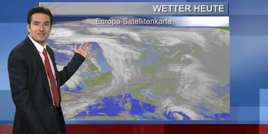 Das Wetter am Vormittag: Von Westen her nass, im Osten noch Hochnebel