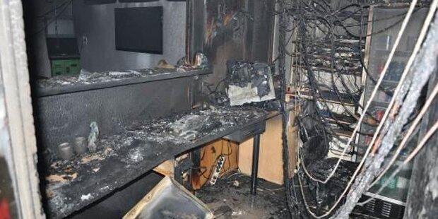 Brand in Wettlokal in Wien-Fünfhaus