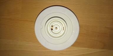 Der Lampenschirm mit der Steckdose