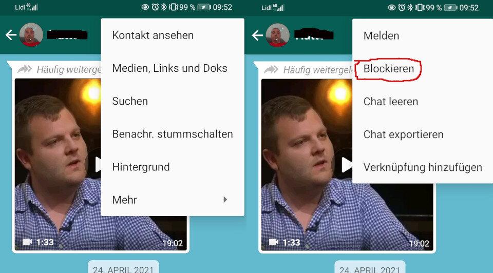 Whatsapp online bei sehen blockiert WhatsApp: Wurde