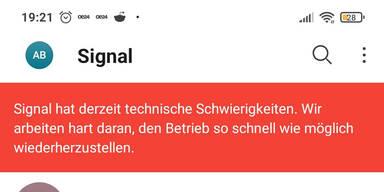 Störung bei Messengerdienst Signal: Probleme beim Nachrichten-Senden