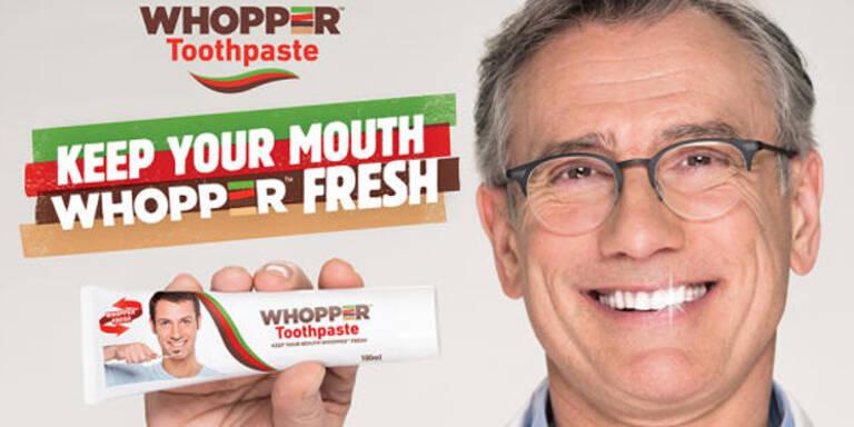 Burger King: Whopper wird jetzt zur Zahnpasta