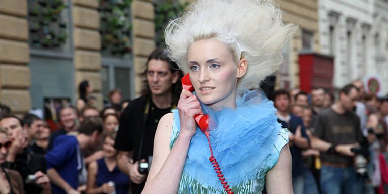 Wiener fashion:mob Guerillos rockten die Straßen