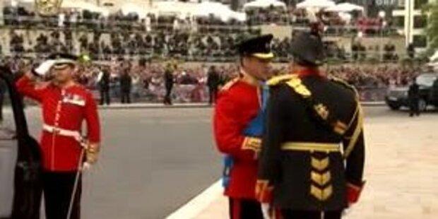 Ankunft von Prinz William und Harry in der Abbey