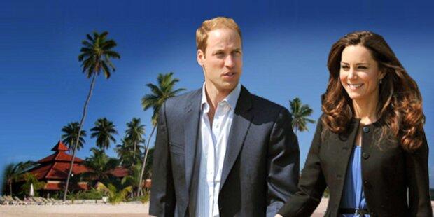 Kate und William starten in die Flitter-Wochen