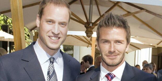 Beckhams kommen zur Prinzen-Hochzeit