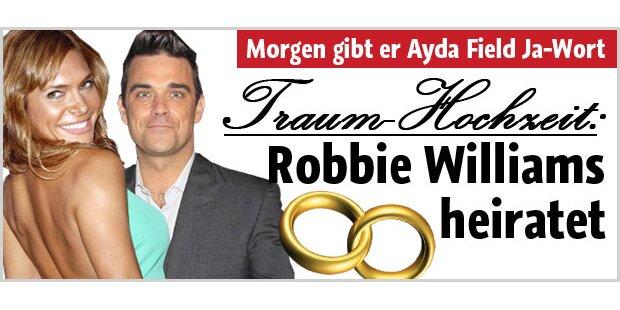Alles über Robbies Traumhochzeit
