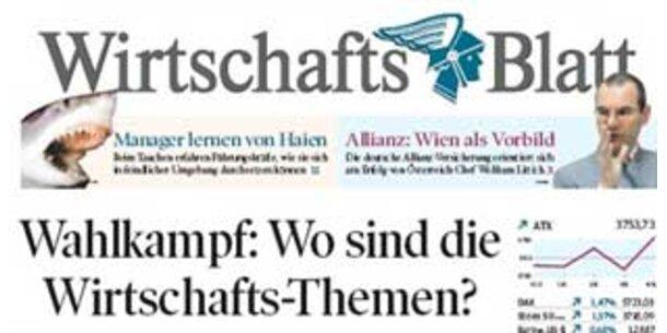 """Umbau in der """"WirtschaftsBlatt""""-Chefredaktion"""