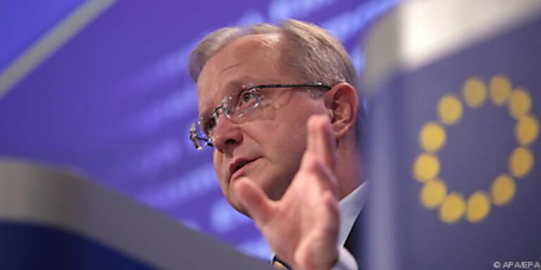 Wirtschaftskommissar Rehn mit der Prognose