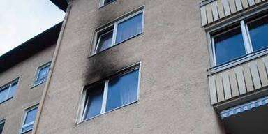 Wohnungsbrand.Wind