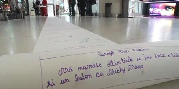 Rumänen schreiben längsten Wunschzettel der Welt