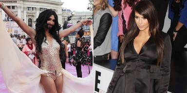 Conchita Wurst und Kim Kardashian