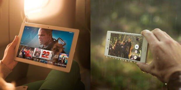 Sony Xperia Z4 Tablet und Xperia M4 Aqua