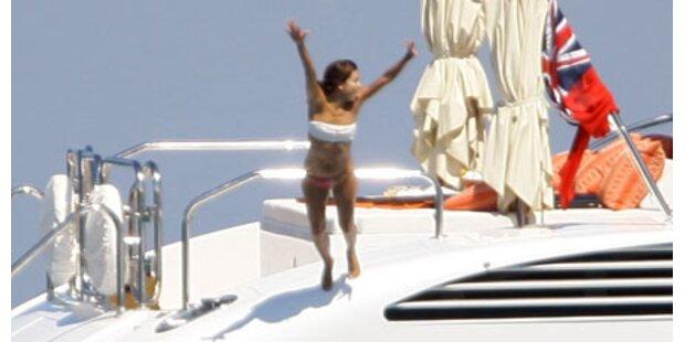 Yacht-Urlaub: Eva Longoria als Badenixe