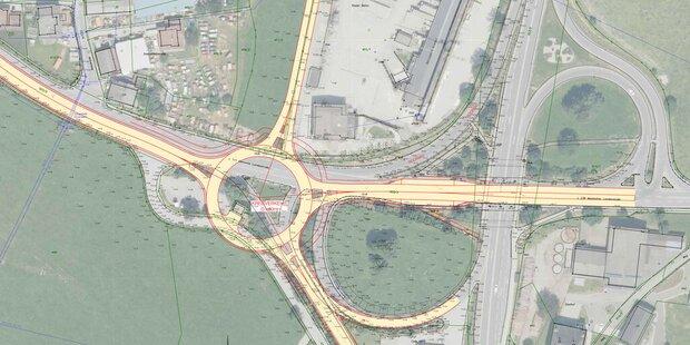 Neuer Kreisverkehr in Maishofen
